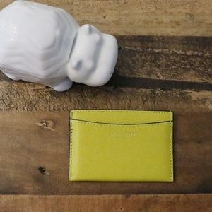 Yellow Leather Coach Card Case